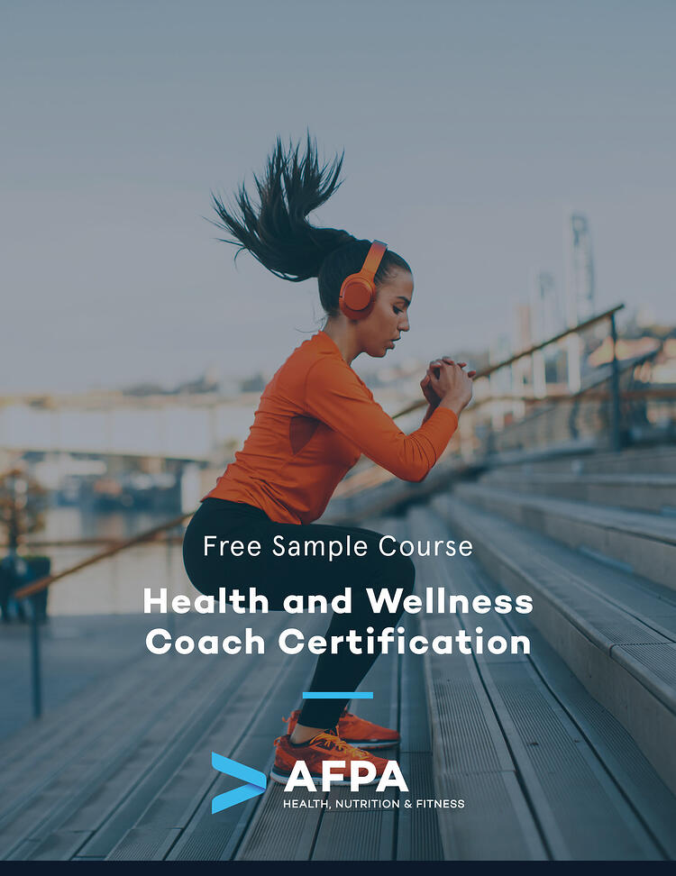 AFPA Health and Wellness Coach Sample Course 2019