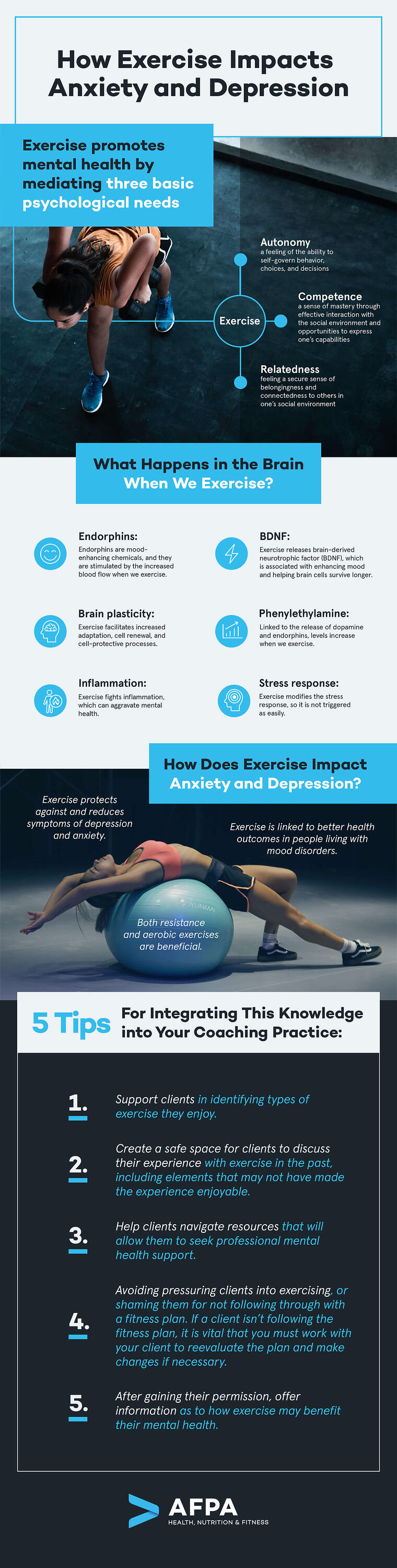 How exercise Impacts Anxiety and Depression