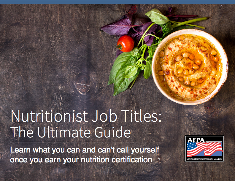 nutritionist job titles guide