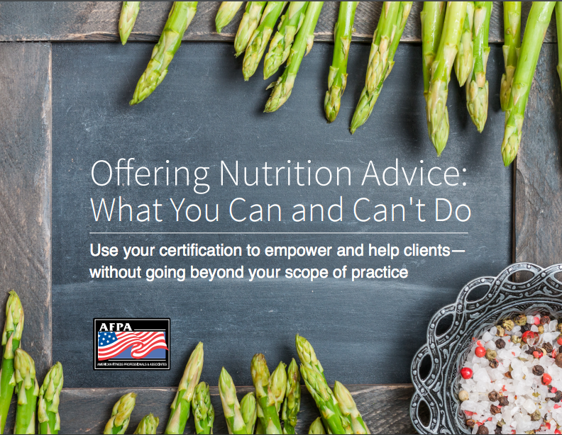 offering nutrition advice