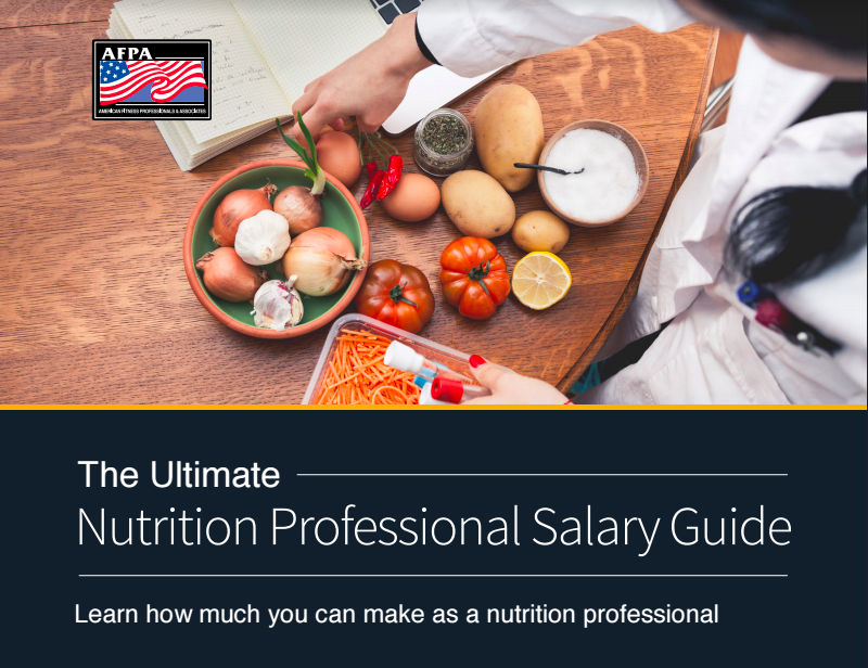 nutrition professional salary