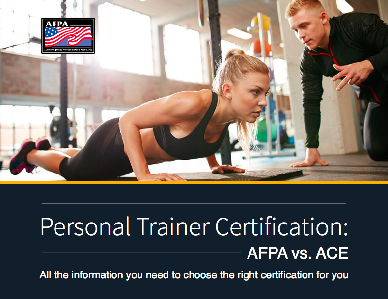 afpa vs ace personal trainer certification