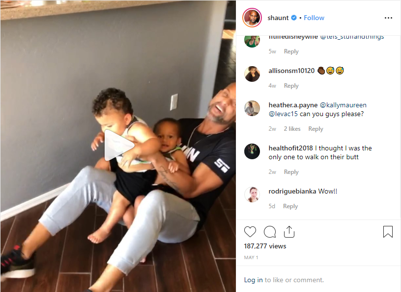 @shount lets us into his personal life with this video of his his kids