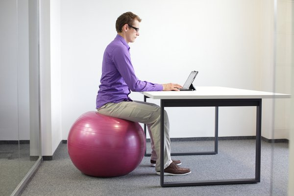 Photo of Benefits of Sitting on a Stability Ball at Work
